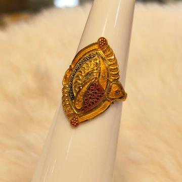 916 Gold Hallmark Ring by Panna Jewellers