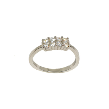 925 Sterling Silver CZ Diamond Ring MGA - LRS3457