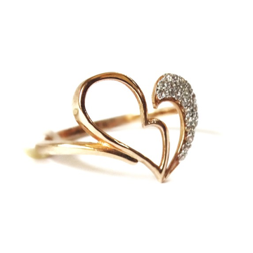 18k rose gold heart shape ring mga - rgr0046