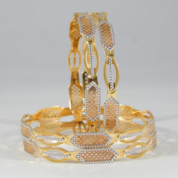 22KT Yellow Gold Entwined Appeal Bangles For Women