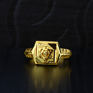Men's Exclusive 22K Plain Casting Gold Ring- MPR52