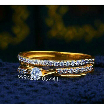 916 Cz Gold Fancy Ladies Ring LRG -0298
