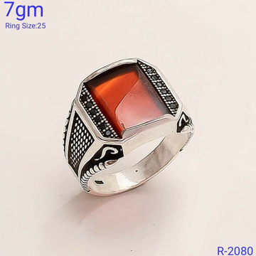 92.5 antique stone ring SL R054