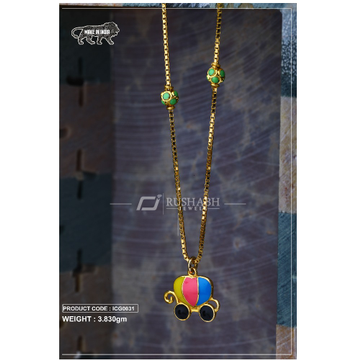 18 carat gold Kids chain pendent goggels icg0031 by