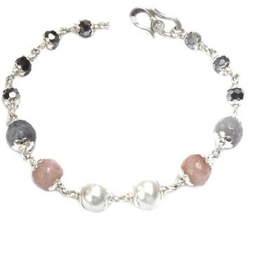 925 sterling silver pearl bracelet mga - brs0036