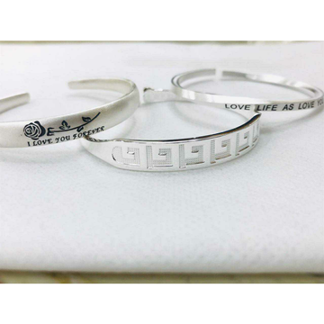 999 Sterling Silver Love Life As Love You Writting Hollow Bracelet Ms-2810