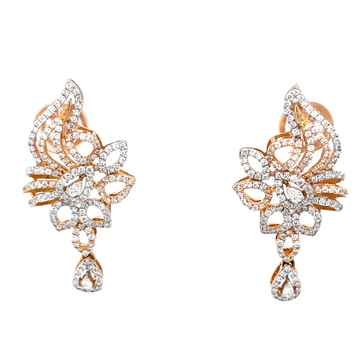 Suspendisse diamond earrings with drop in 18k rose...