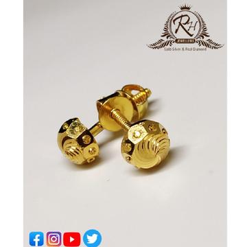 22 carat gold plain earrings rh-er469