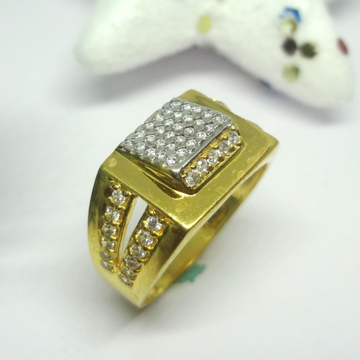 916 cz gold diamond ring by