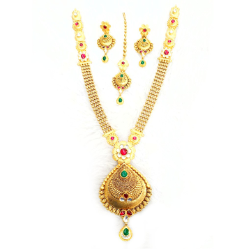 916 Gold Antique Necklace Set MGA - GN030