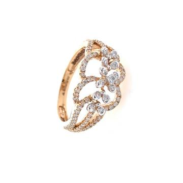 Nitidus diamond Ring for Ladies in 18k Rose gold -...