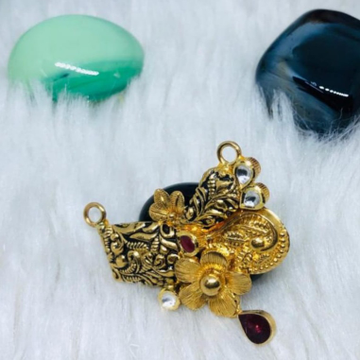 916 gold jadtar mangalsutra pendants msp-0001