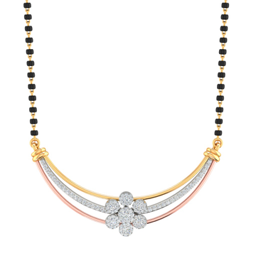 Branded fancy real diamond mangalsutra by