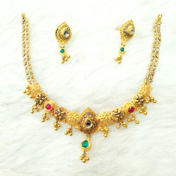 916 Gold Antique Necklace Set MGA - GN004
