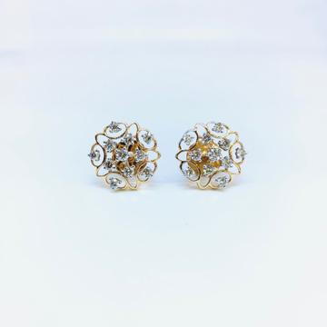 DESIGNING FANCY ROSE GOLD REAL DIAMOND EARRINGS by