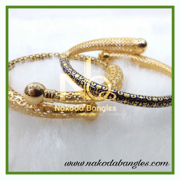 916 Gold Pipe Bangles NB-371
