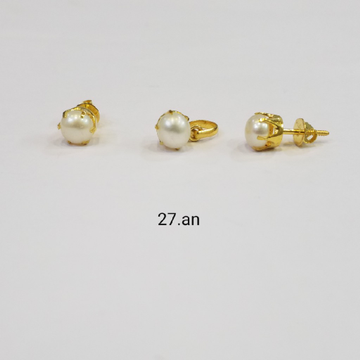 18kt gold c ston pendant set FH6291