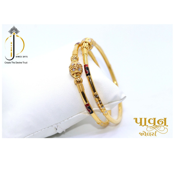 22KT / 916 Gold Plain casual Bangles For Ladies KK... by