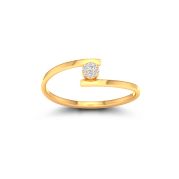 22KT Gold CZ Stylish Ladies ring JK-LR004