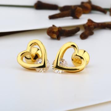 916 Gold Heart Shape Swarovski Tops JJ-E013