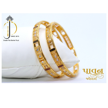 22KT / 916 Gold fancy casual ware Bangles For Ladi... by