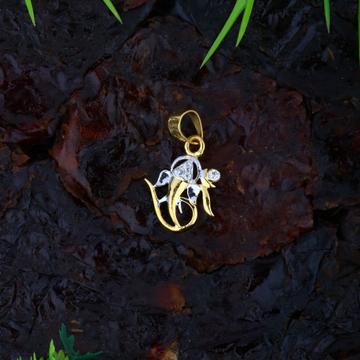 22KT Gold CZ Ganesha Design Pendant JJ-P043