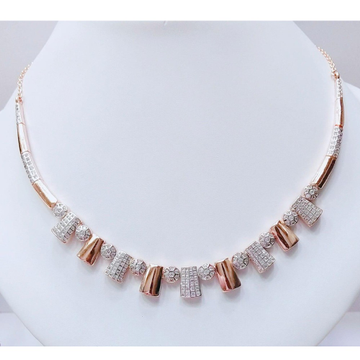 18K Rose Gold Plated Necklace For Wedding MJ-N010 by