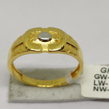 916 Gold Men's Rings sOG-R95 by S. O. Gold Private Limited
