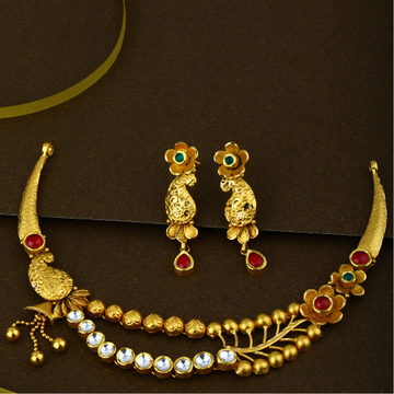 916 CZ Gold Most Attractive Necklace Set