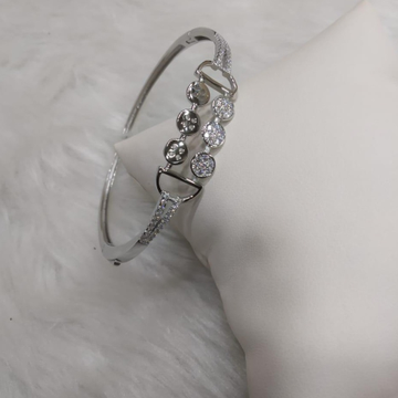 92.5 sterling silver diamond kada by