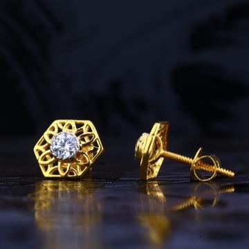 22 carat gold antique ladies earrings RH-LE728