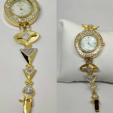 18k Ladies Fancy Gold Indian Watch G-2228