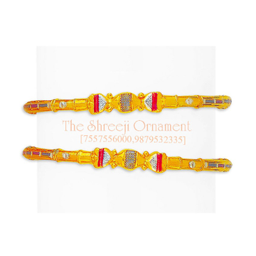 916 Gold Fancy Modhiya Copper Kadali - 0024