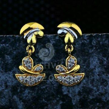 18kt Fancy Gold Rodium Cz Ladies Tops ATG -0559
