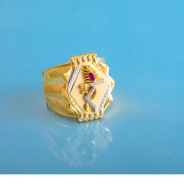 916 gold cz design gents ring