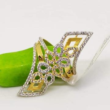 916 Gold CZ classic Ladies Ring RH-LR57