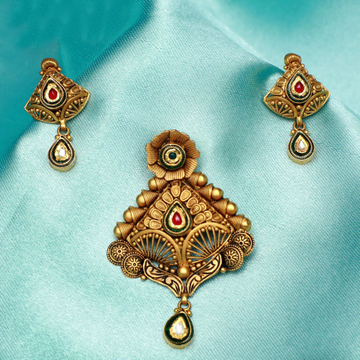 916 Gold Antique Bridal Pendant Set PJ-PS009