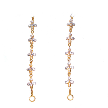 22ct / 916 yellow gold CZ Fancy Earchian for ledies  KCG0012