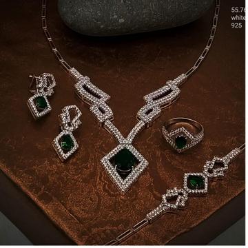 silver antique ladies necklace set rH-NS930