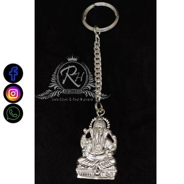 silver ganesh keychain RH-KC355