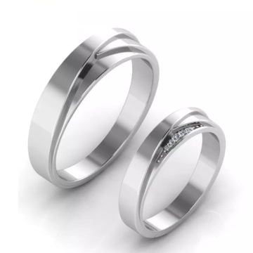 950 Platinum Daile Band Cople Ring For Unisex
