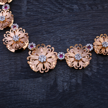 18CT Rose Gold Ladies  Necklace Set RN91