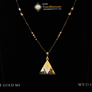 18 ct fancy mangalsutra by