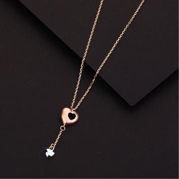18ct Rose Gold Hallmark Designer  Necklace RTM90