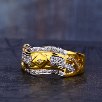 22KT Gold Cz Classic Gent's Ring MR677
