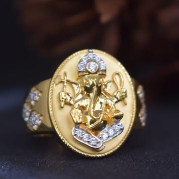 916 Gold Ganesh Design Ring For Men MK-R16 by
