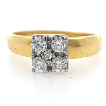 18kt / 750 yellow gold fancy square design diamond...
