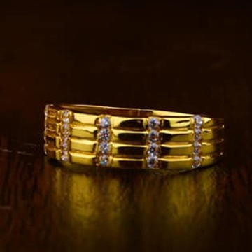 916 Gold Gents Ring 0009