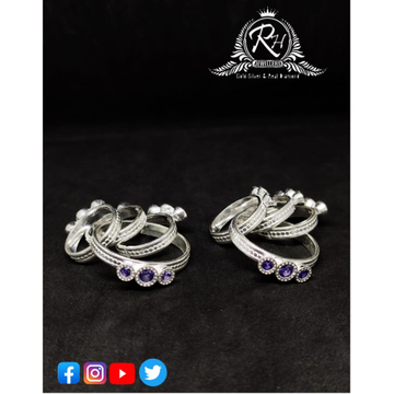 silver ladies toe rings RH-TR459