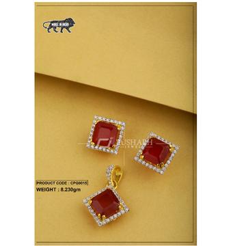 22 carat 916 gold ladies colour stone pendent set cpg0015